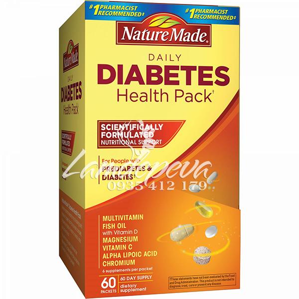 nature made diabetes health pack 60 gói