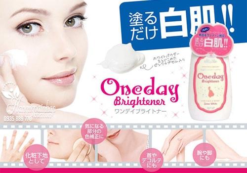 Kem dưỡng thể trắng da one day brightener cream của nhật