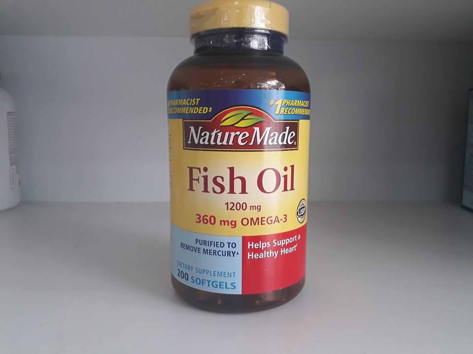 Dầu cá Nature Made Fish Oil 1200mg giá bao nhiêu? Mua ở đâu?