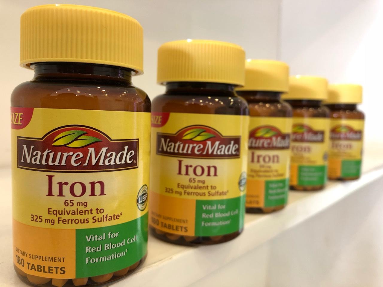 Thuốc Nature Made Iron 65mg 180 viên giá bao nhiêu? Mua ở đâu?