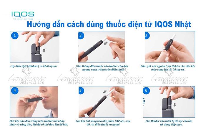 Hướng dẫn cách sử dụng thuốc lá điện tử xách tay IQOS 2.4 Plus dòng mới nhất