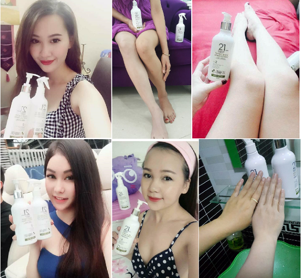 Bộ dưỡng trắng 21 Days Perfect Body White Reyou-cell 4
