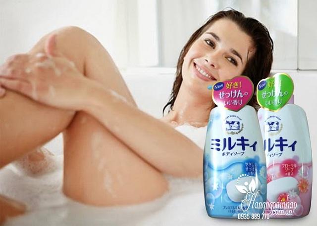 Sữa tắm bò tươi Gyunyu Milk Body Soap 580ml 3