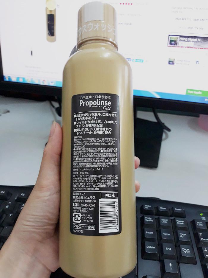 Nước súc miệng Propolinse Gold 600ml