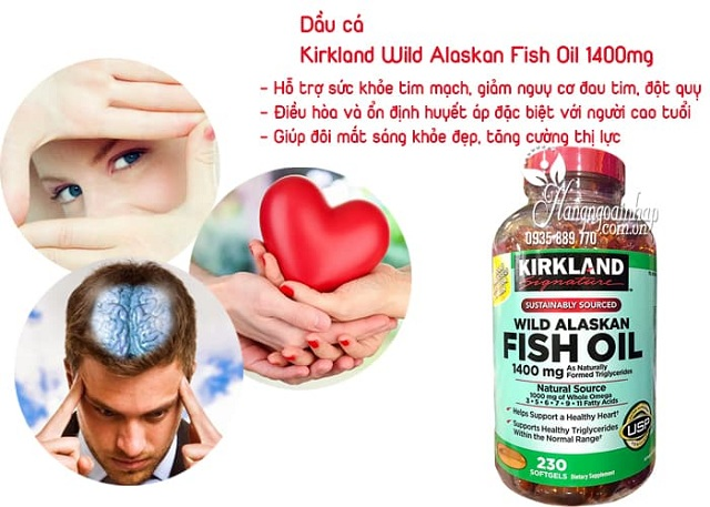 Dầu cá Alaskan Kirkland Wild Alaskan Fish Oil 1400mg 3