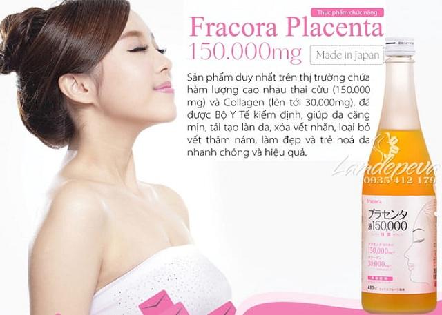 Nước uống nhau thai cừu Nhật Bản Fracora Placenta 150.000mg 2