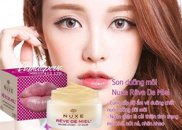 Son dưỡng môi Nuxe Reve De Miel Lip Balm dạng hũ 15g của Pháp 3