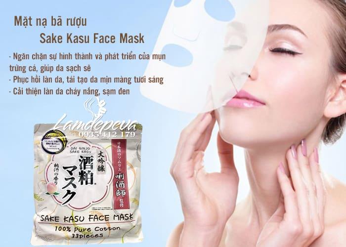 Mặt nạ bã rượu Sake Kasu Face Mask 2
