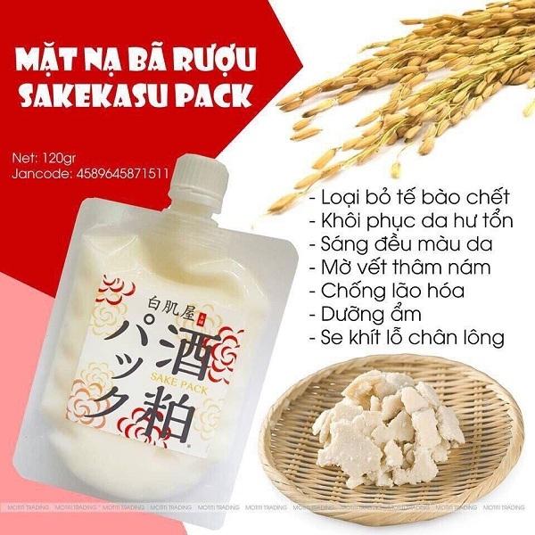 Mặt nạ Sake Kasu Face Pack 120g 2