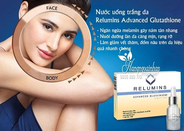 nước uống trắng da Relumins Advanced Glutathione 7500mg 2