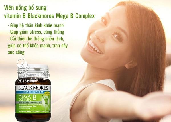 Viên uống vitamin B tổng hợp Blackmores Mega B Complex 3
