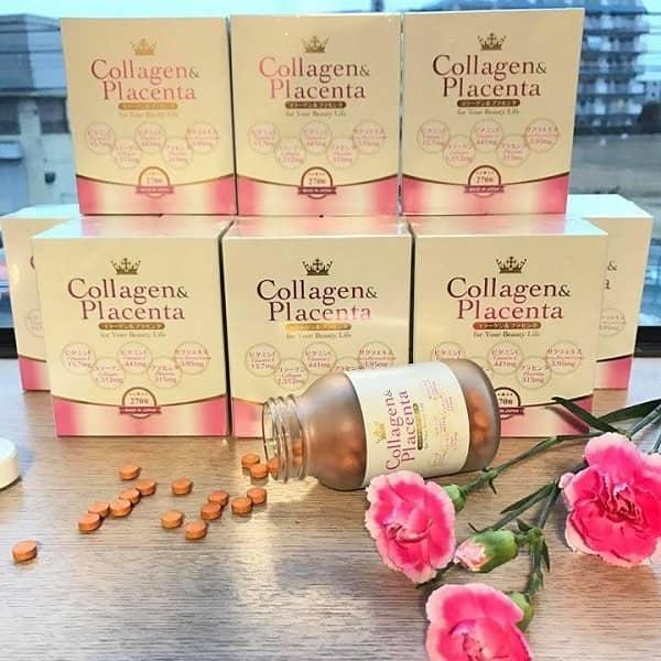 Viên uống Collagen Placenta 270 viên của Nhật  1