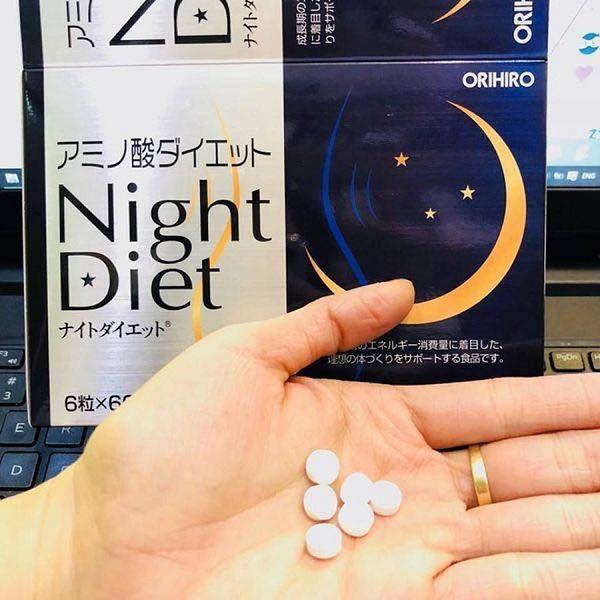 Viên uống giảm cân Night Diet Orihiro 3