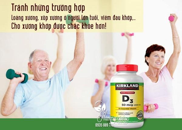 Viên uống Vitamin D3 Kirkland Extra Strength D3 50mcg 1
