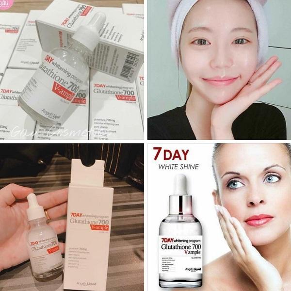 Huyết thanh trắng da 7day Glutathione 700 Angel's Liquid Hàn Quốc 2