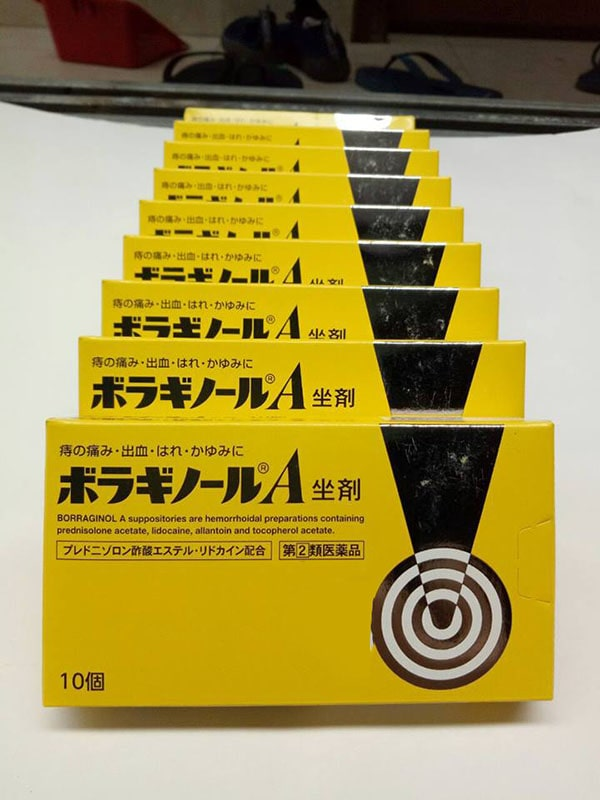 Tác dụng của viên đặt trĩ Borraginol A Nhật Bản