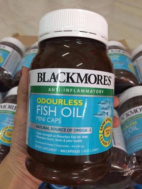 Dầu cá không mùi Blackmores Fish Oil Mini Caps giá tốt nhất 1
