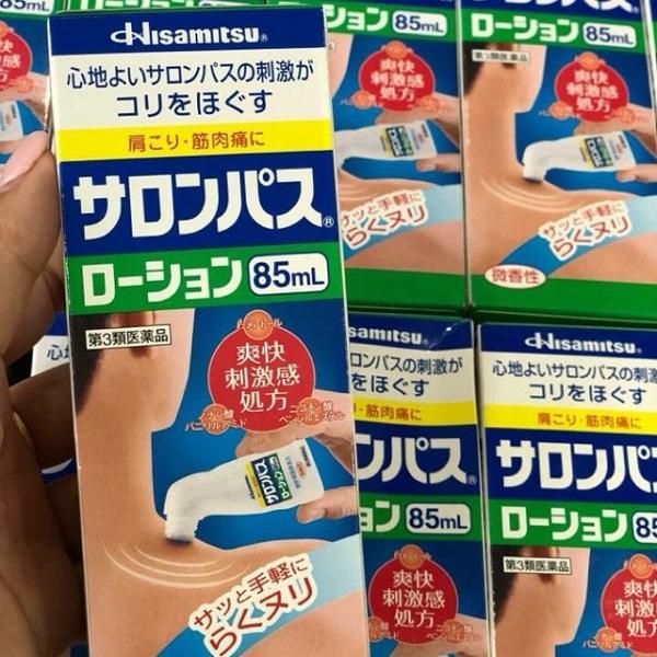 Dầu xoa bóp Hisamitsu 85ml dạng lăn của Nhật Bản 3