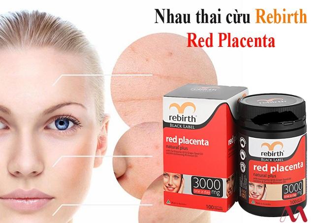 Viên uống nhau thai cừu đỏ Rebirth Red Placenta 3000mg Úc 3