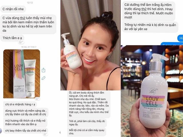 Louv Cell - Lotion dưỡng trắng da toàn thân của Hàn Quốc 2