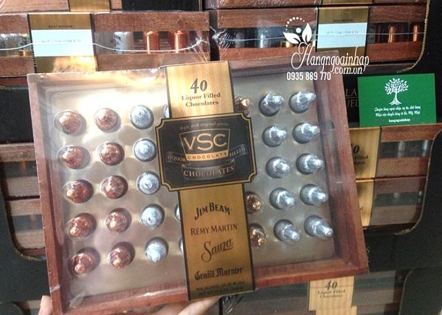 Socola nhân rượu hộp gỗ VSC 40 chai của Mỹ - Hộp quà tặng ý nghĩa 3
