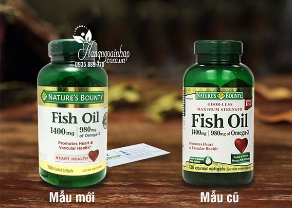 Dầu cá Fish Oil 1400mg 900mg Omega-3 Nature's Bounty 130v 2