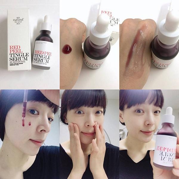 Red Peel Tingle Serum Hàn Quốc - Peel da không bong tróc 35ml 2