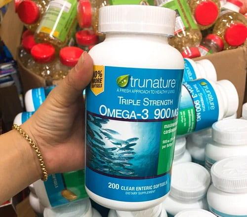 Viên uống dầu cá Omega-3 Trunature Triple Strength giá bao nhiêu-3
