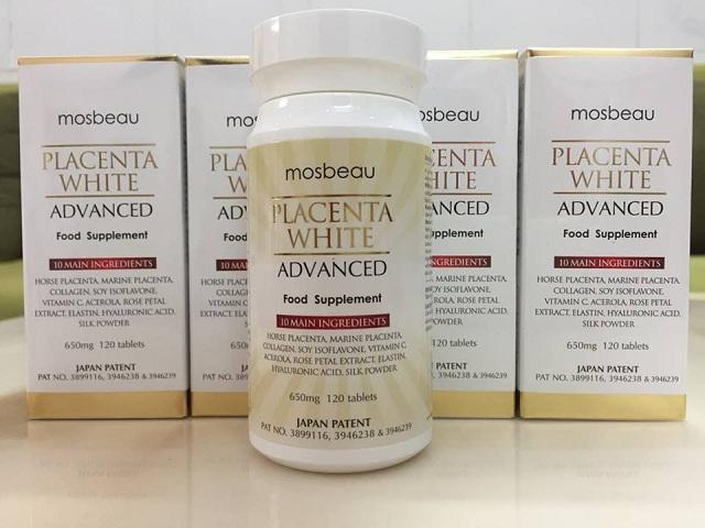 Viên uống trắng da Mosbeau Placenta White Advanced 120v Nhật 2