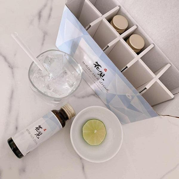 Nước uống trắng da White Rich Drink hộp 10 chai Nhật Bản 4