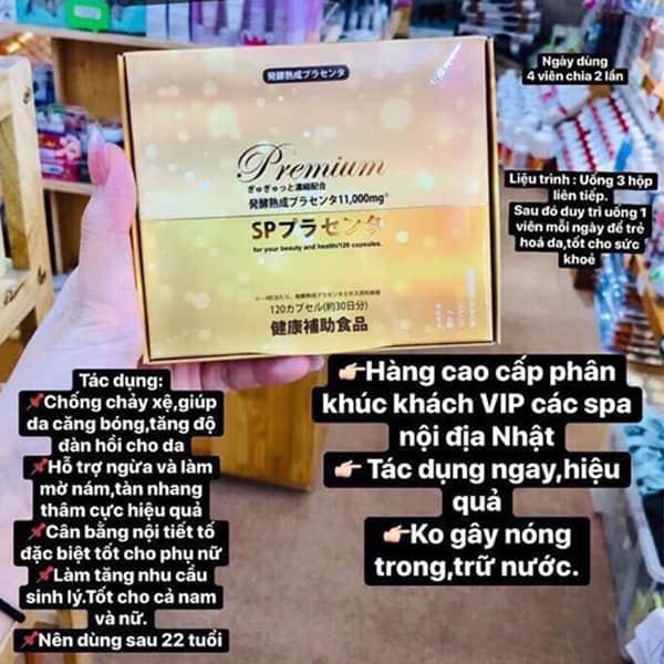 Viên nhau thai lên men Premium SP 11000mg Nhật 120 viên 1