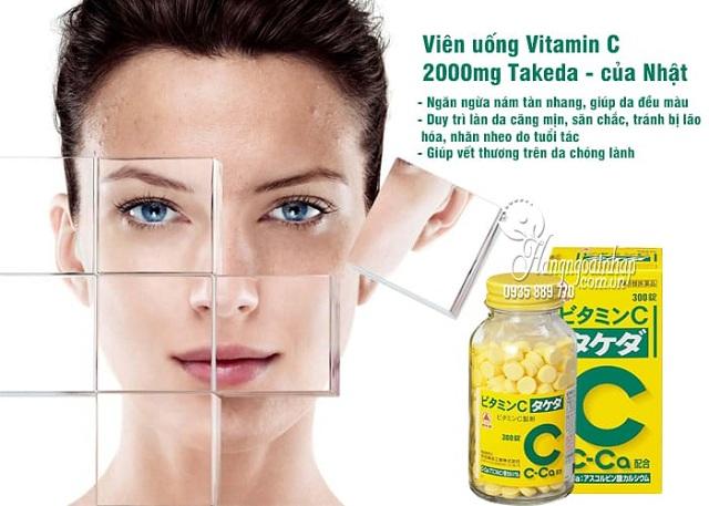 Viên uống Vitamin C 2000mg Takeda - Vitamin C Ca Nhật 300 viên 6