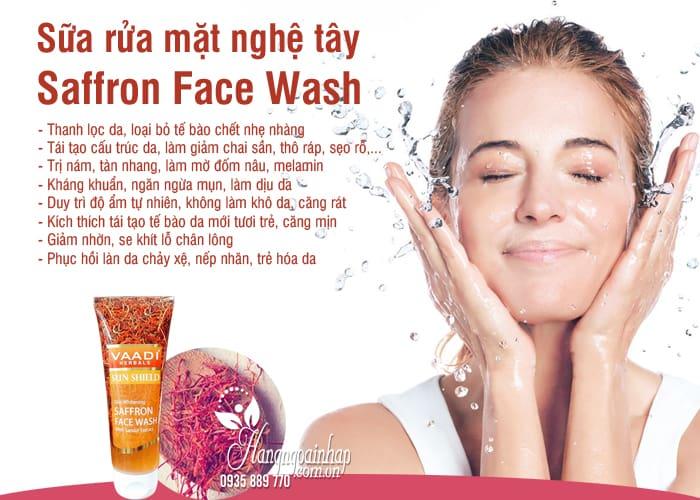 Sữa rửa mặt Vaadi Saffron Face Wash 60ml từ nhụy hoa nghệ tây 7