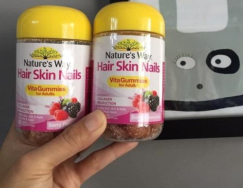 Kẹo dẻo Hair Skin Nails Natures Way giá bao nhiêu-2