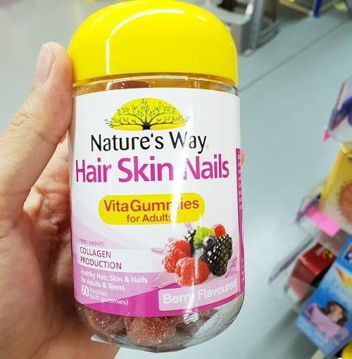 Kẹo dẻo Hair Skin Nails Natures Way giá bao nhiêu-3