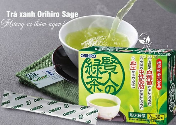 Trà xanh Orihiro Sage giảm mỡ máu tốt nhất của Nhật 3