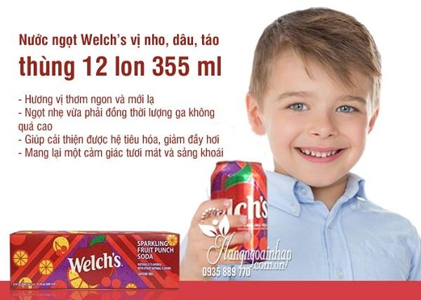 Nước ngọt Welch's - Nước trái cây Welch's vị nho, dâu, táo 2