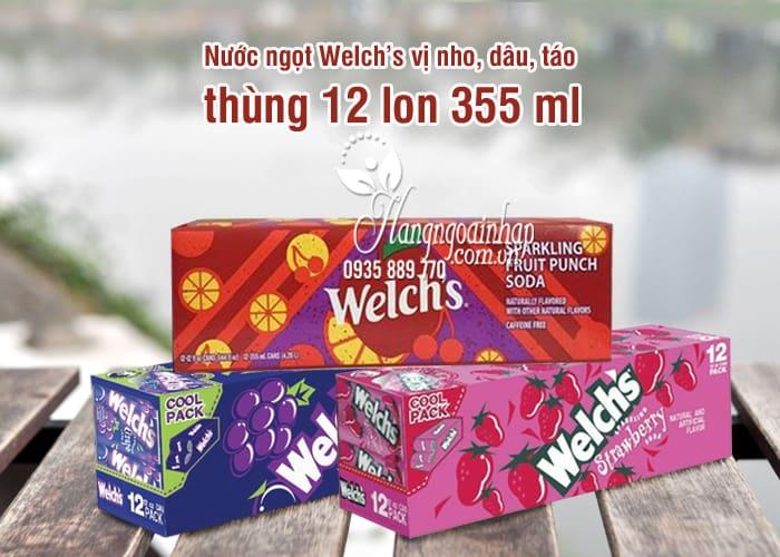 Nước ngọt Welch's - Nước trái cây Welch's vị nho, dâu, táo 6