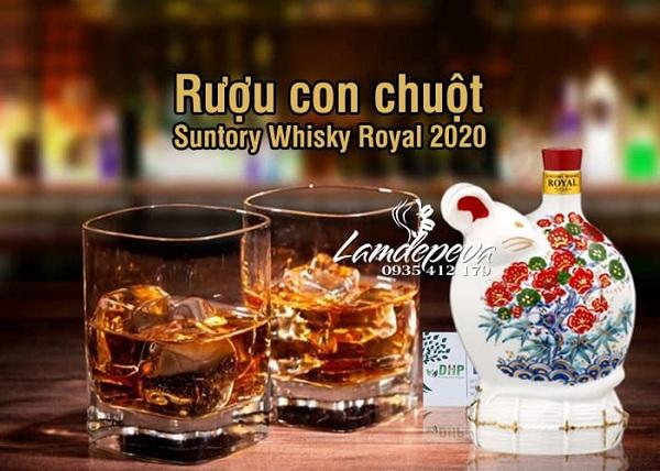 Rượu con chuột Tết 2020 Suntory Whisky Royal Nhật Bản 2