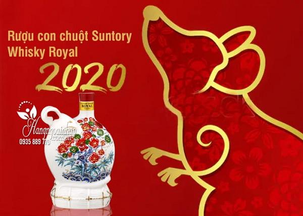 Rượu con chuột Tết 2020 Suntory Whisky Royal Nhật Bản 1