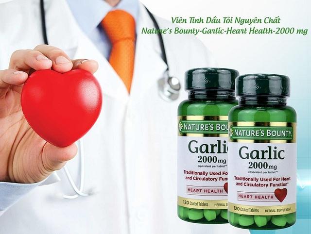 Tinh dầu tỏi Nature's Bounty Garlic 2000mg chính hãng Mỹ 3