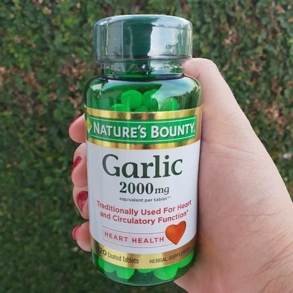Tinh dầu tỏi Nature's Bounty Garlic 2000mg chính hãng Mỹ 1