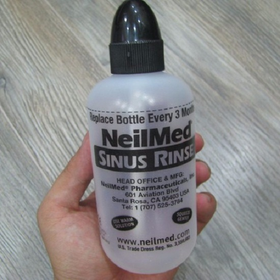 Bình rửa mũi NeilMed 240ml kèm 50 gói muối sinh lý 1
