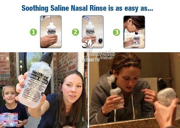 Bình rửa mũi NeilMed 240ml kèm 50 gói muối sinh lý 6