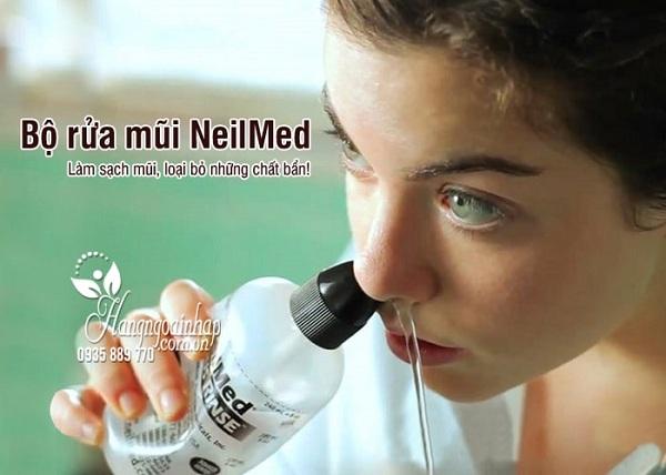 Bình rửa mũi NeilMed 240ml kèm 50 gói muối sinh lý 3