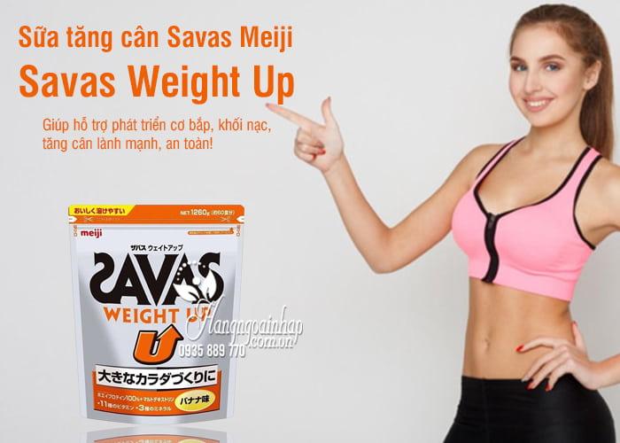 Sữa Savas Weight Up Meiji 1260g hỗ trợ tăng cân lành mạnh 3