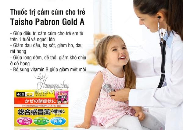 Thuốc cảm cúm Taisho Pabron Gold A Nhật Bản hộp 46 gói 4