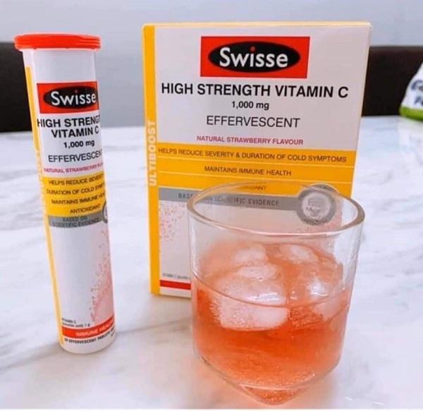 Vitamin C Swisse sủi của Úc hàm lượng cao 1000mg 3