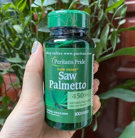 Viên uống Saw Palmetto 450mg của Mỹ hỗ trợ tuyến tiền liệt 7