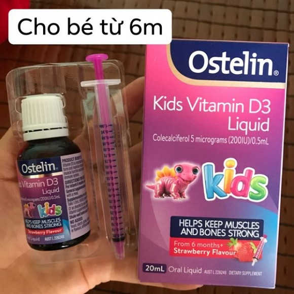 Vitamin D3 Ostelin dạng nước cho bé 6 tháng, xách tay Úc 4